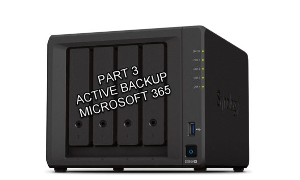 Synology DS920+ Review – Part 3 (Active Backup for Microsoft 365)